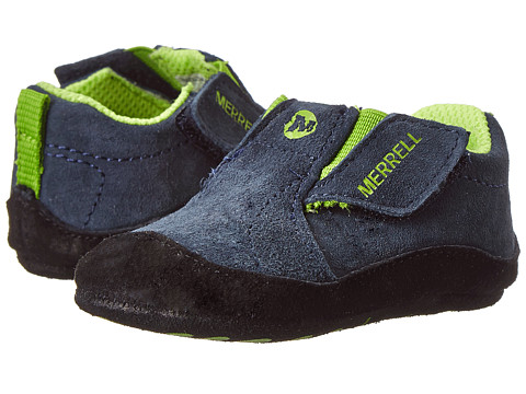 Merrell Kids - Jungle Moc Baby (Infant/Toddler) (Navy) Boy's Shoes