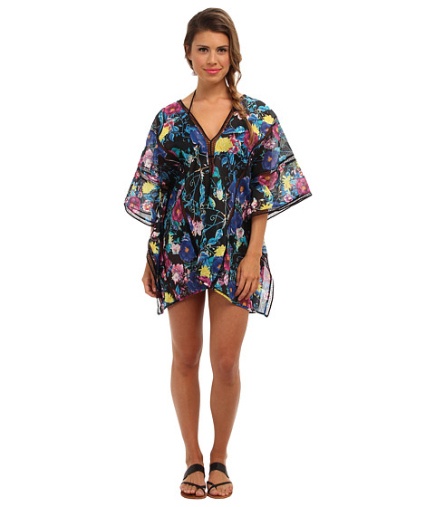 Seafolly - Keira Kaftan Cover-up (Black) Women's Swimwear