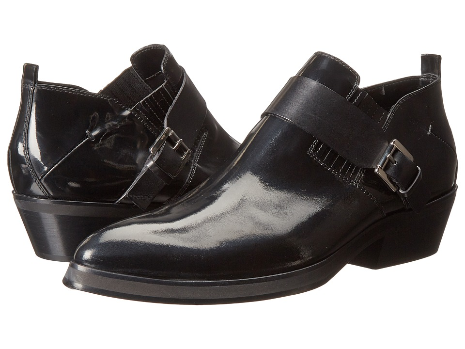 CoSTUME NATIONAL - Hilton Ankle Boot w/ Strap (Black) Men