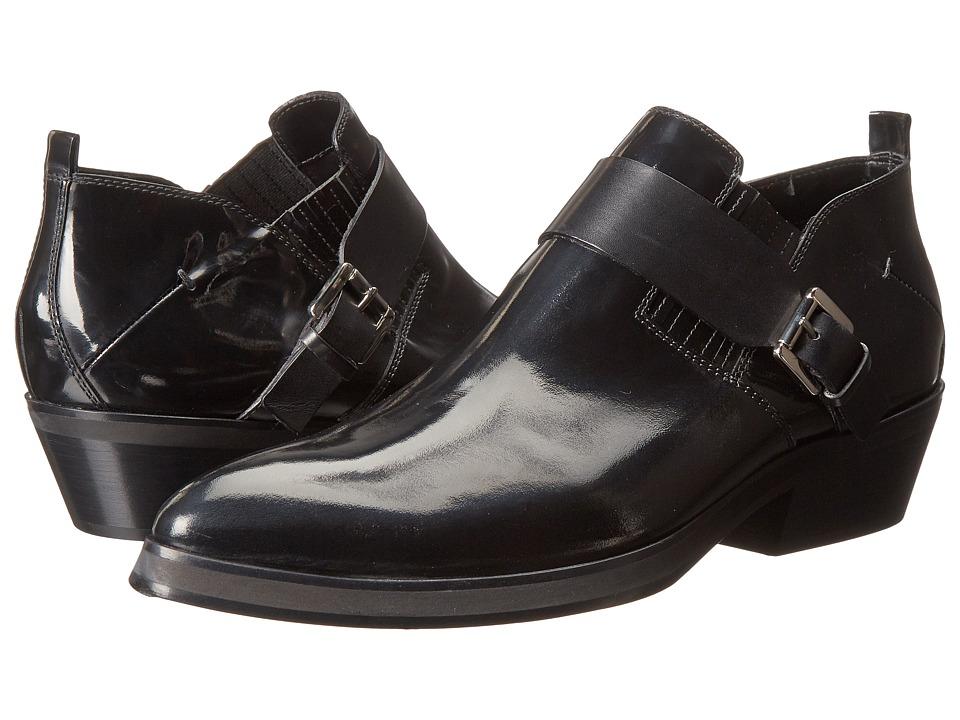 CoSTUME NATIONAL - Hilton Ankle Boot w/ Strap (Black) Men