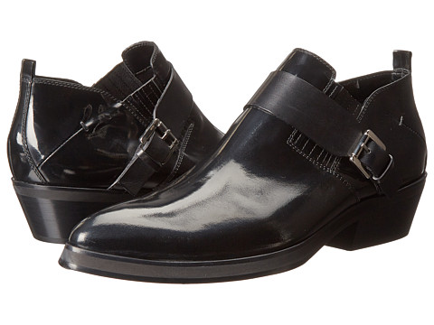 CoSTUME NATIONAL - Hilton Ankle Boot w/ Strap (Black) Men's Dress Boots