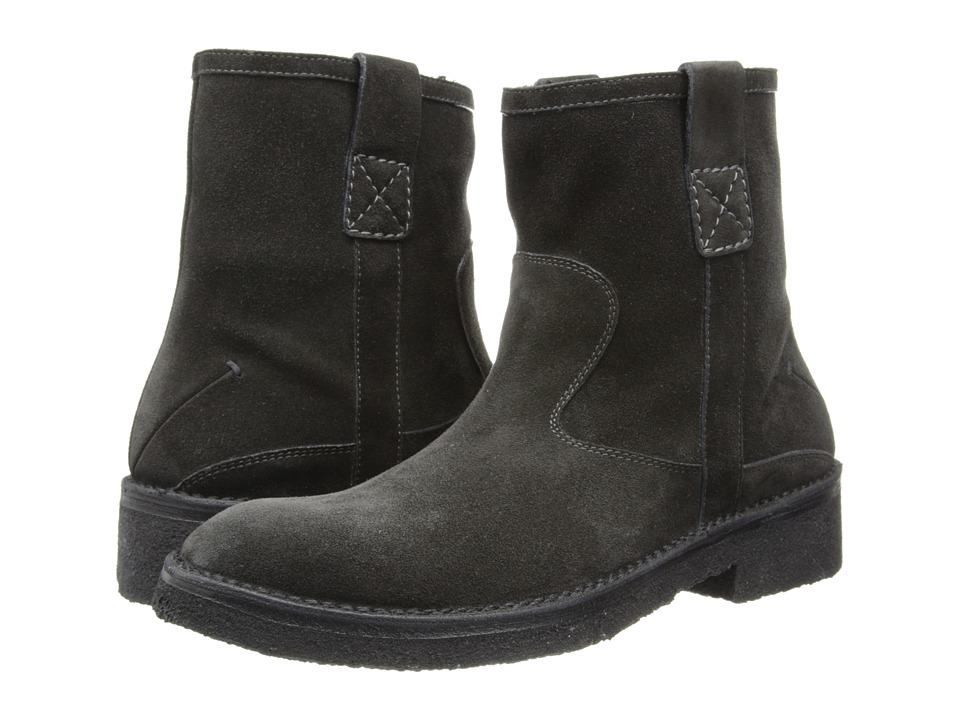 CoSTUME NATIONAL - Suede Side Zip Boot (Grey) Men