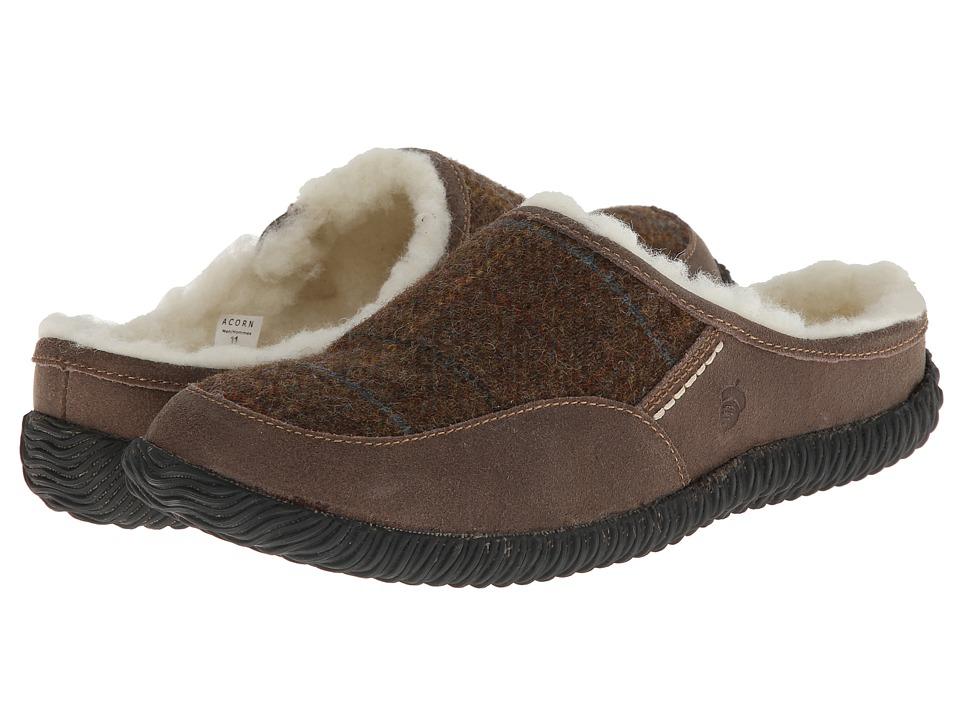 Acorn - Rambler Mule (Olive Plaid) Men's Shoes