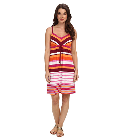 Tommy Bahama - Pier Stripe Short Dress (Crisp Orange) Women
