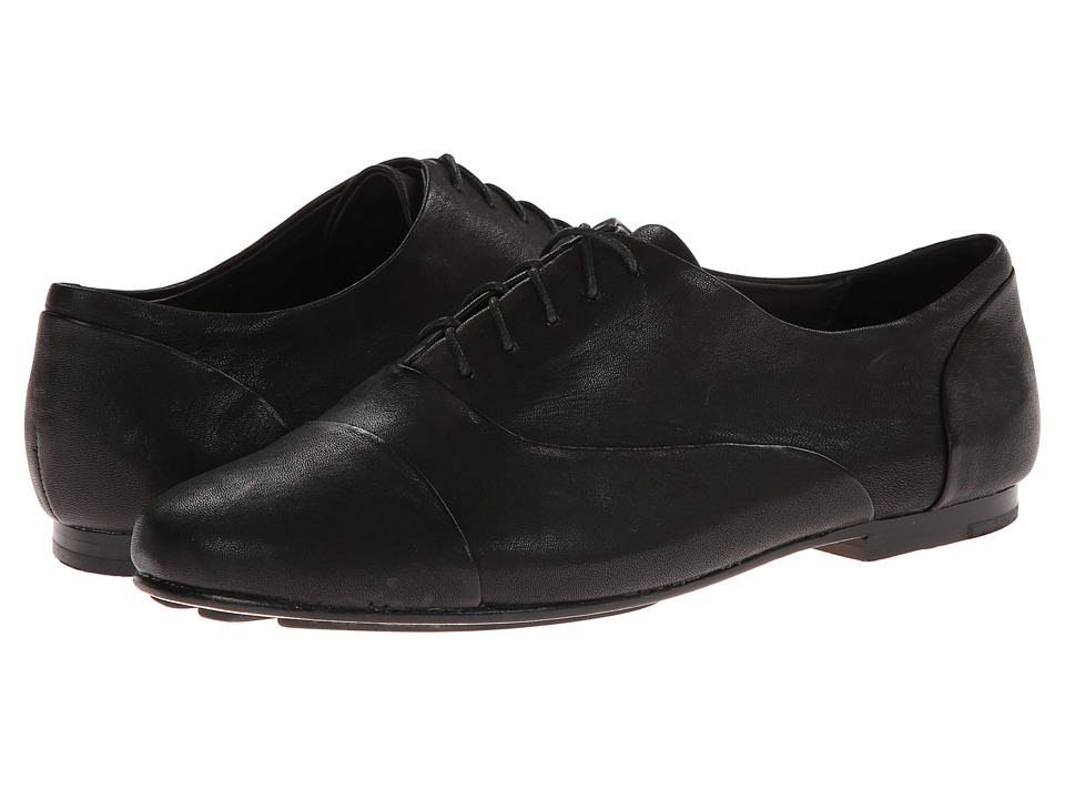 Gentle Souls - Edge Tie (Black Leather) Women's Shoes