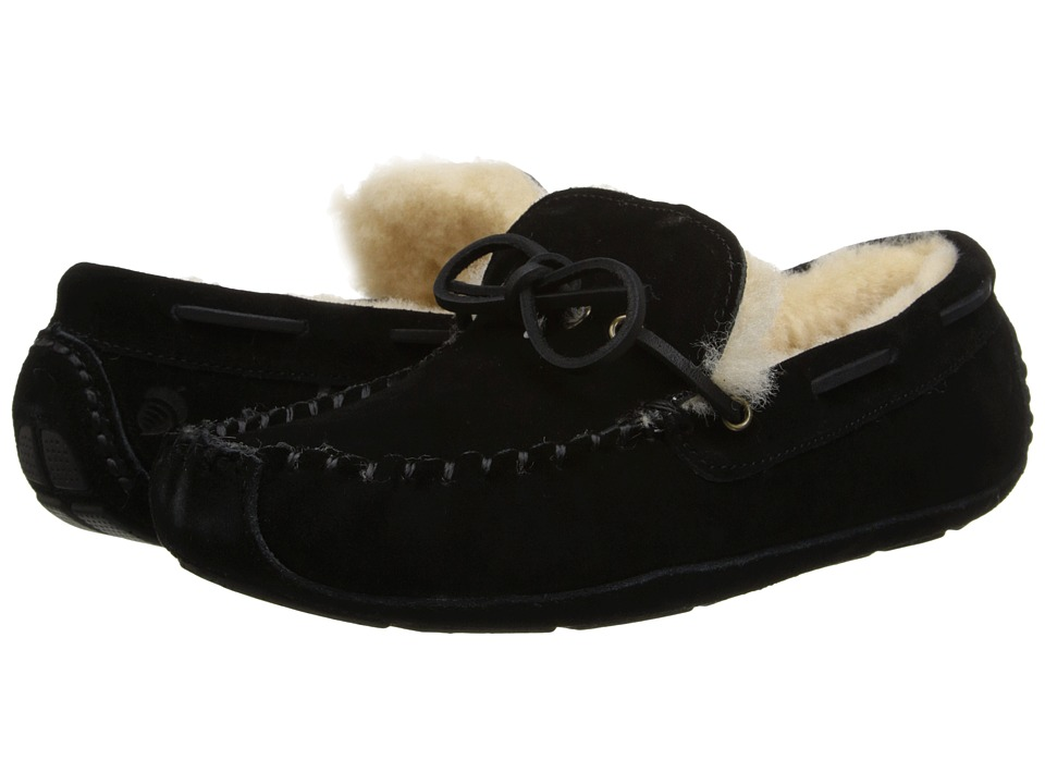 Acorn - Sheepskin Moxie Moc (Black) Men's Slippers