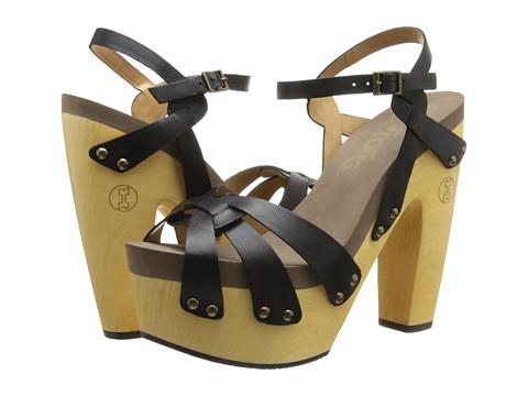 Flogg - Rainbow (Black Leather) High Heels
