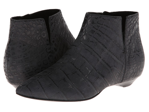 Sigerson Morrison - Gabrielle (Black Croc Embossed Leather) Women