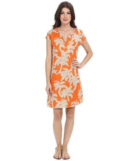 Tommy Bahama - Paintbrush Palm Dress (Orange Jupiter) Women