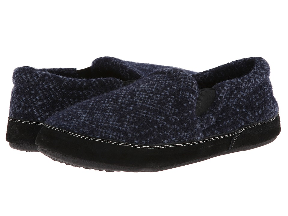 Acorn - Fave Gore (Navy Tweed) Men's Slippers
