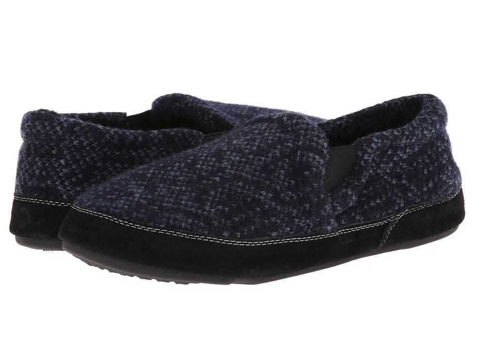 Acorn - Fave Gore (Navy Tweed) Men's Slippers