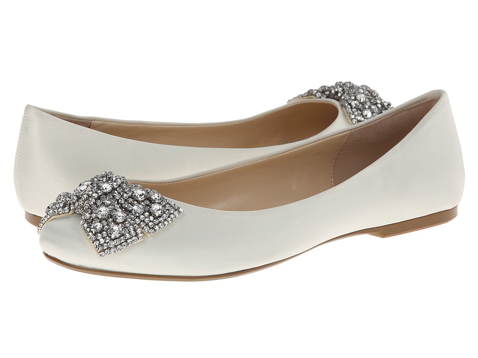 Blue by Betsey Johnson - Ever (Ivory Satin) Women's Dress Flat Shoes