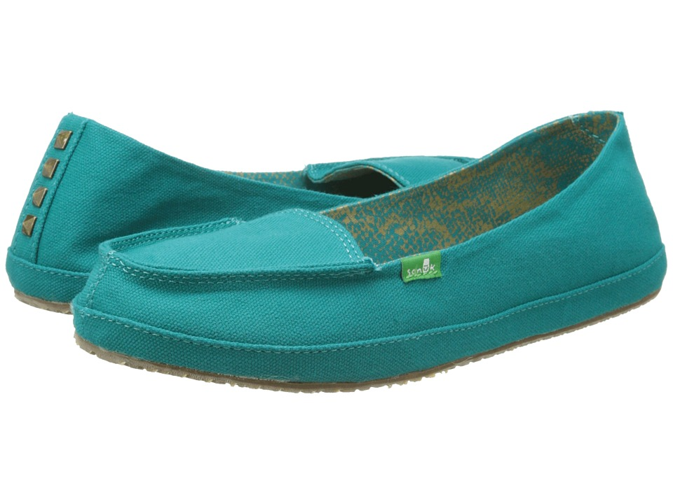 Sanuk - Tailspin (Teal) Women's Slip on Shoes
