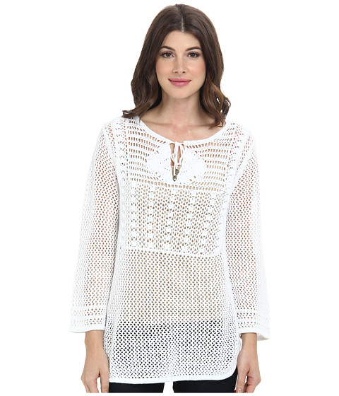 Tommy Bahama - Willa Crochet Pullover Tunic (White) Women