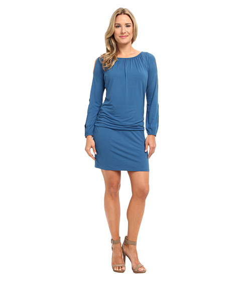 Tommy Bahama - Tambour Cold Shoulder Dress (Deep Azure) Women