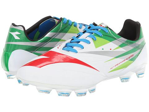 Diadora - DD-NA 2A GLX 14 (White/Green/Red) Men's Soccer Shoes