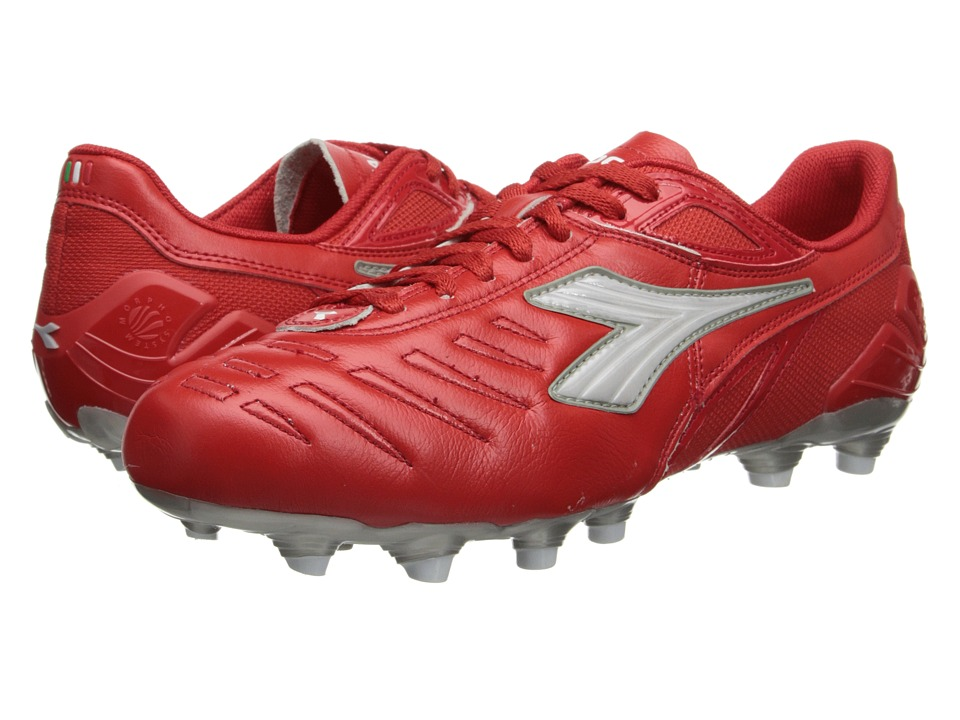 Diadora - Maracana L (Red/White) Men's Soccer Shoes