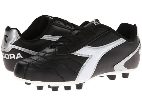 Diadora - Capitano LT MD PU (Black/White/Silver) Men's Shoes