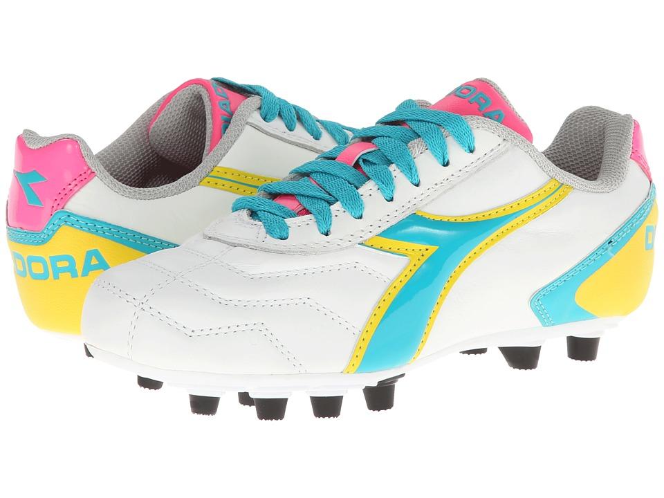 Diadora - Capitano LT MD PU W (White/Teal/Yellow/Pink) Women's Shoes