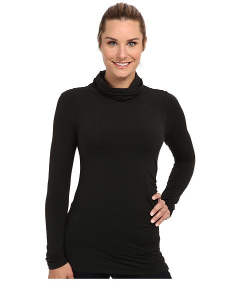 Merrell - Evoke Jersey Rouched Top (Black) Women's Long Sleeve Pullover