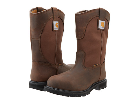 Carhartt - 11 Waterproof Wellington Steel Toe (Brown) Men's Work Boots