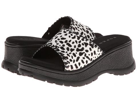 Roper - Animal Print Hair On Sandal (Black/White) Women
