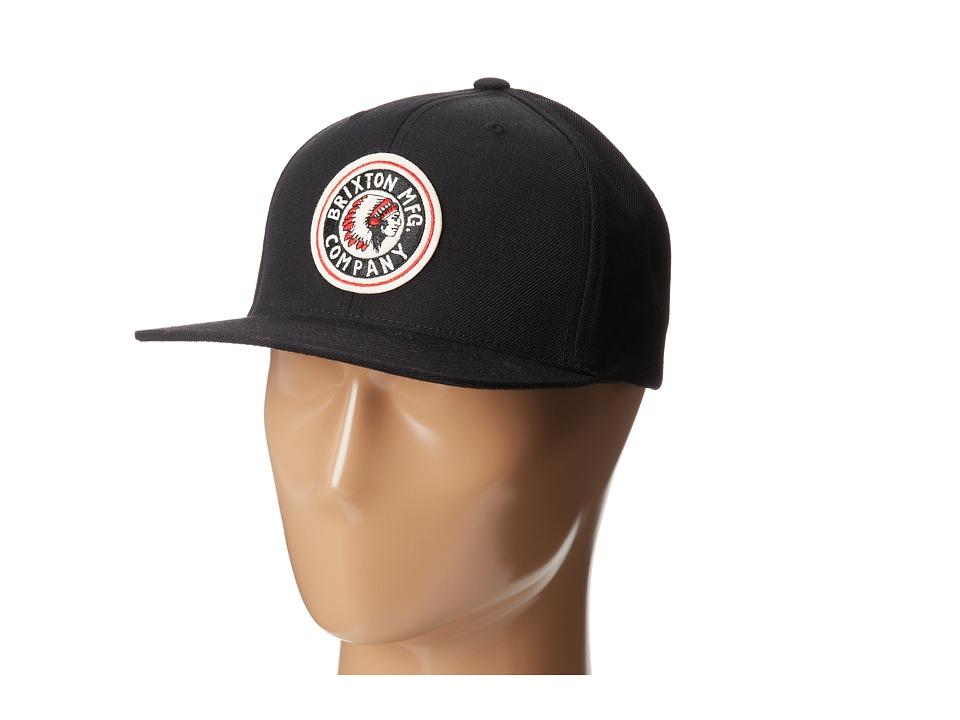 Brixton - Rival Snapback (Black) Baseball Caps