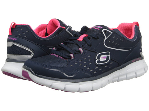 SKECHERS - Front Row (Navy/Purple) Women's Shoes
