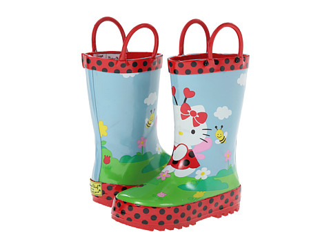 Western Chief Kids - Hello Kitty Ladybug Garden Rainboot (Toddler/Little Kid/Big Kid) (Red) Girls Shoes