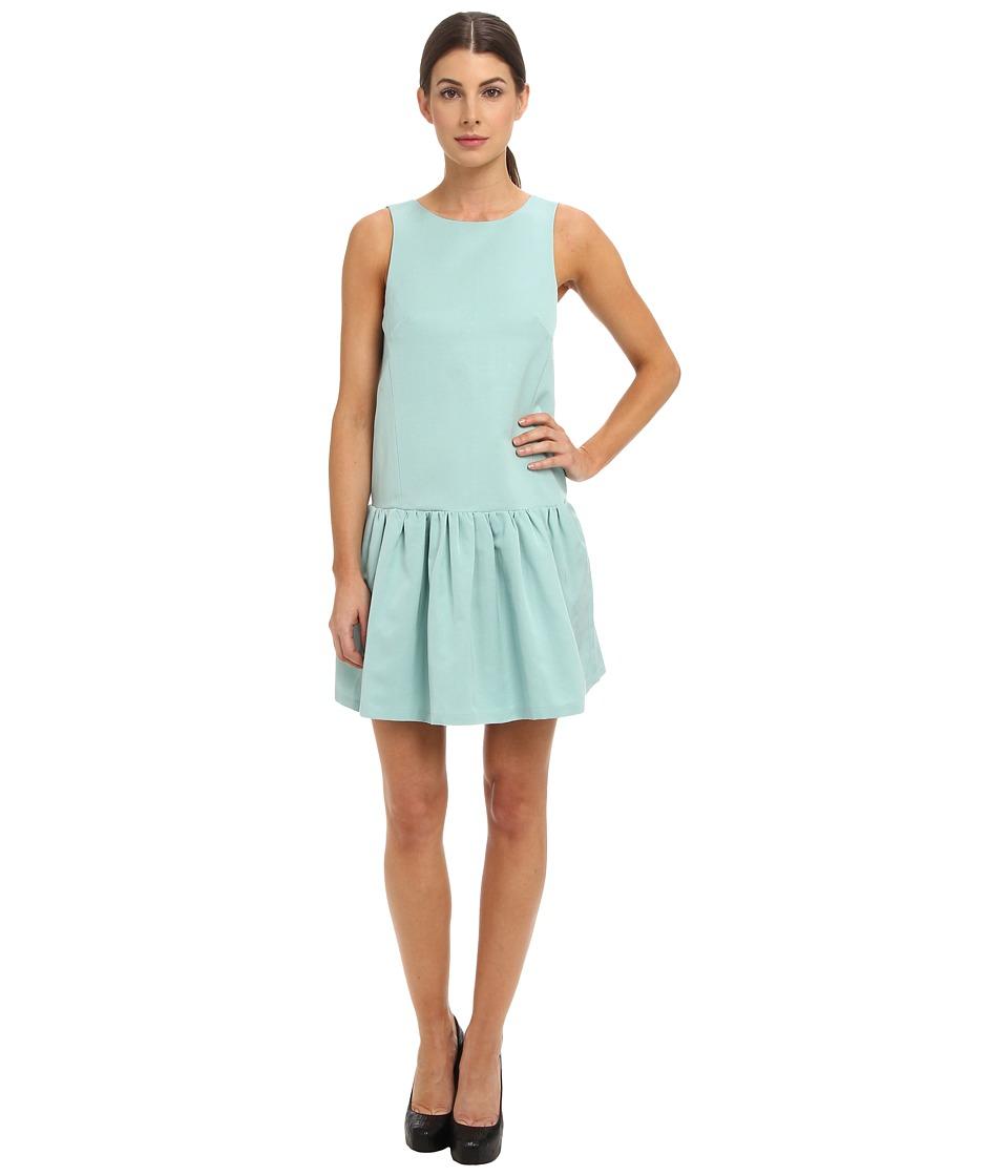 tibi - Katia Faille Sleeveless Flirty Dress (Lichen) Women's Dress