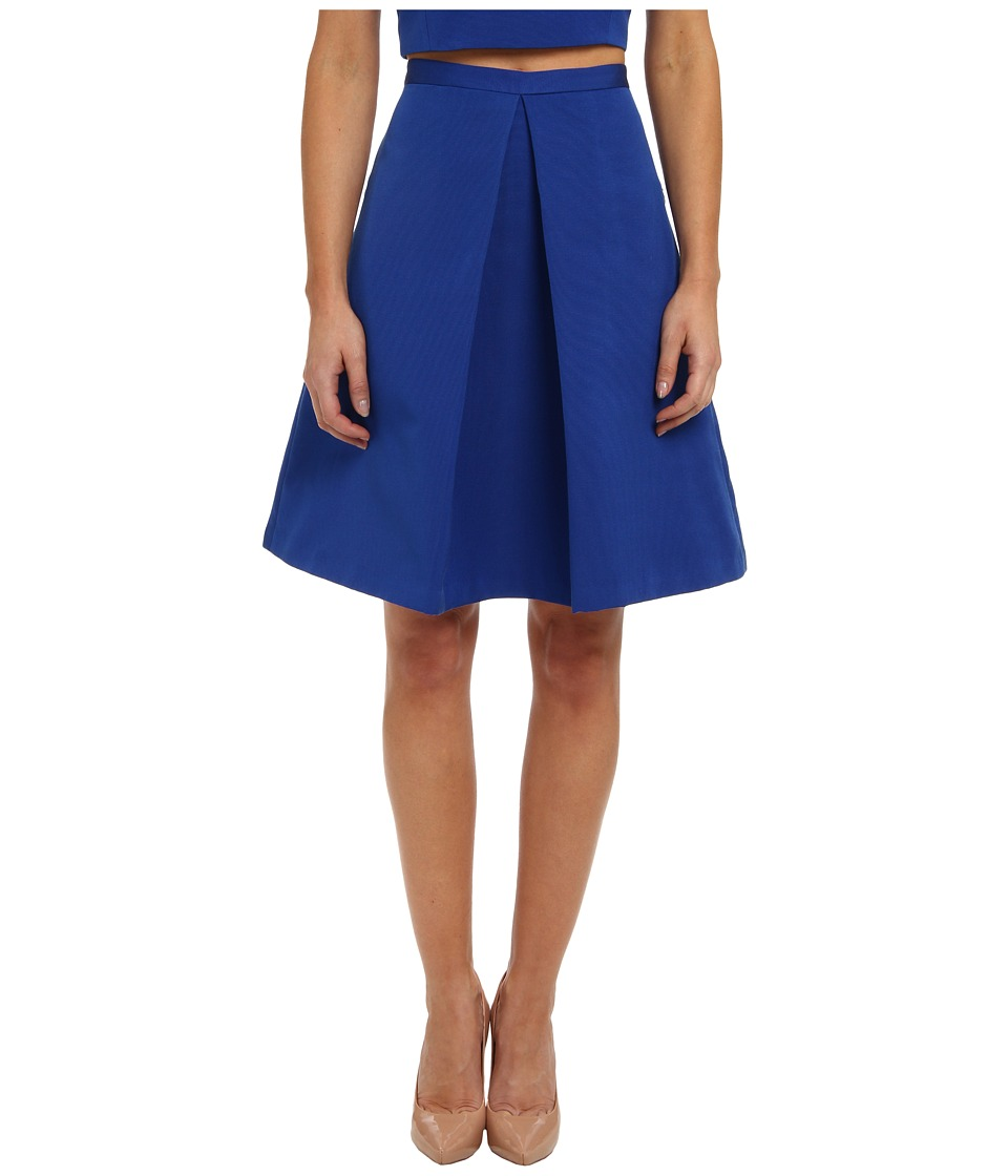 tibi - Katia Faille Pleat Skirt (Electric Blue) Women's Skirt