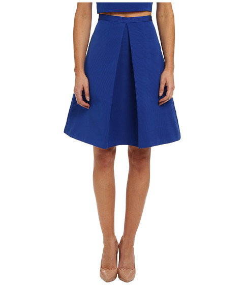 tibi - Katia Faille Pleat Skirt (Electric Blue) Women