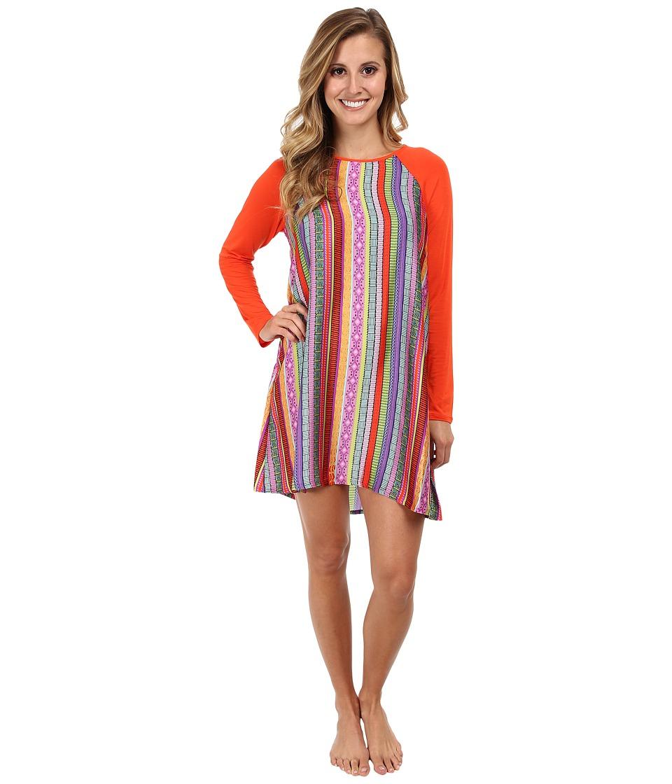 Josie - Anastasia L/S Sleepshirt (Multi) Women's Pajama