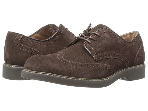 Bass - Pembroke (Dark Brown) Men's Lace Up Wing Tip Shoes