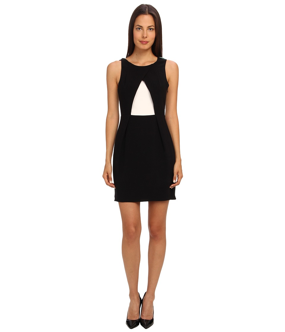 tibi - Arden Crepe Sleeveless Pleat Dress (Black Multi) Women's Dress