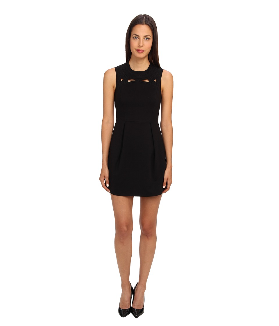 tibi - Boutis Embroidery Sleeveless Dress (Black) Women's Dress