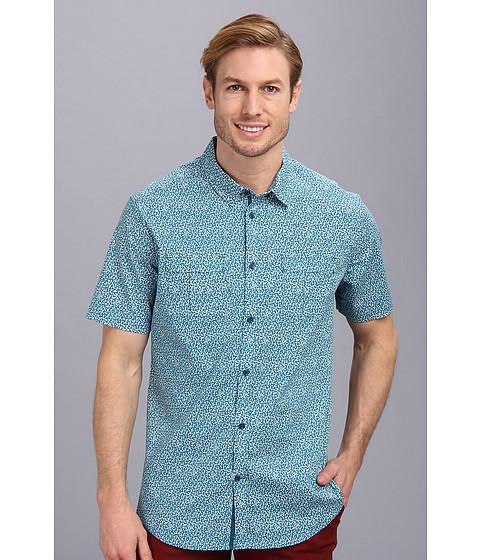Elie Tahari - Hayden Shirt - Cuore On Stretch Cotton Poplin (Ocean Depths) Men's Short Sleeve Button Up