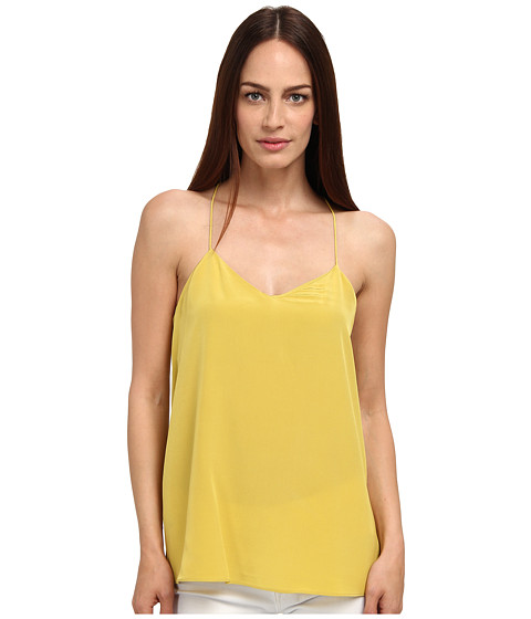 tibi - Solid Silk CDC Cami (Yellow Ochre) Women's Clothing