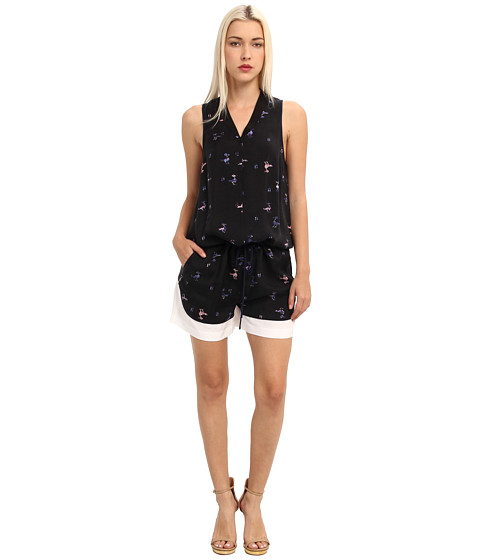 tibi - Rio Print On Cupro Jumpsuit (Black Multi) Women's Jumpsuit & Rompers One Piece