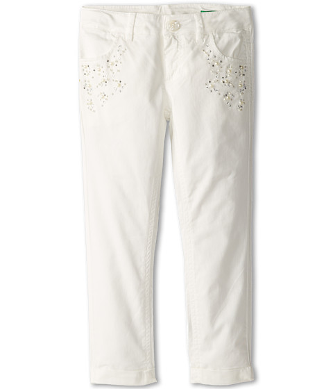 United Colors of Benetton Kids - Trousers With Pocket Detail 4CIW575W0 (Toddler/Little Kids/Big Kids) (Cream) Girl's Clothing