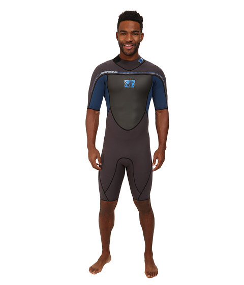 Body Glove - Method 2.0 Back Zip Springsuit (Jet Black/Iodine Blue) Men