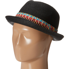 SALE! $11.99 - Save $10 on Steve Madden Thick Tribal Band Fedora Hat (Black) Hats - 45.50% OFF $22.00