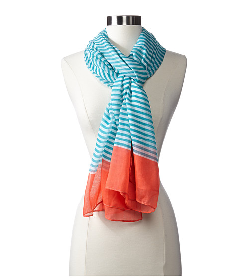 Steve Madden - Pinstripe Day Wrap (Sea Green) Scarves