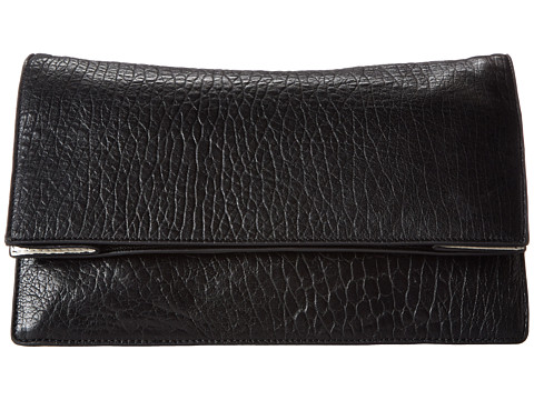 McQ - 351490R1B96 1048 Fold Tote (Black/Lime Mix Bubble Leather) Clutch Handbags