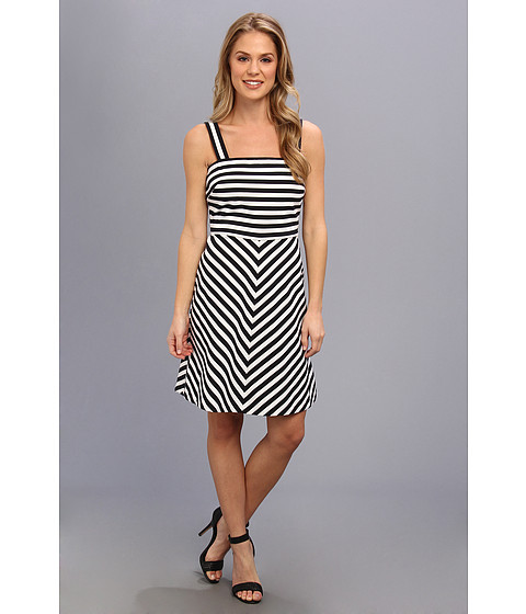 MICHAEL Michael Kors - Miter Stripe Ponte Dress (Navy) Women