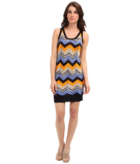 MICHAEL Michael Kors - Racked Stripe Tank Dress (Navy) Women's Dress