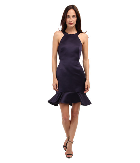 McQ - Double Face Ruffle Dress (Ink Blue) Women's Dress