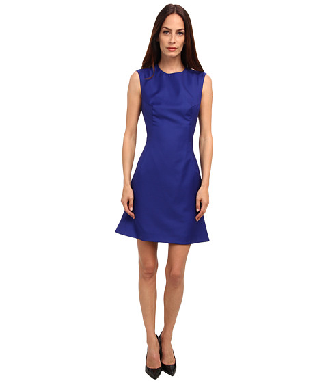 McQ - Tuxedo Kick Back Dress (Bright Blue) Women