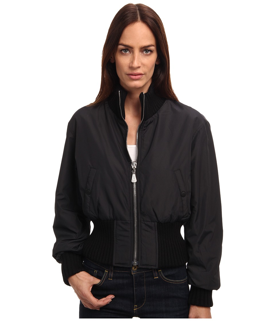 McQ - MA1 Nylon Cropped Bomber (Deep Black) Women's Coat
