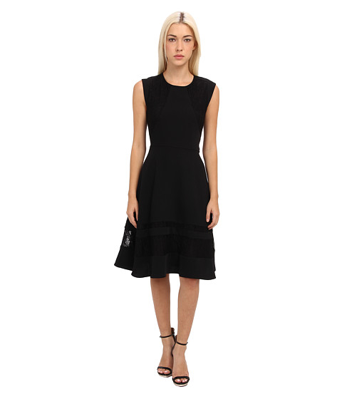 Rachel Roy - Lace Panel Dress (Black) Women's Dress